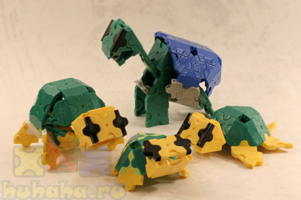 Собираем черепах из конструктора Лакью